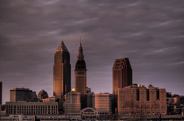 Cleveland: Cold Night, Warm Lights (Explore #16!)