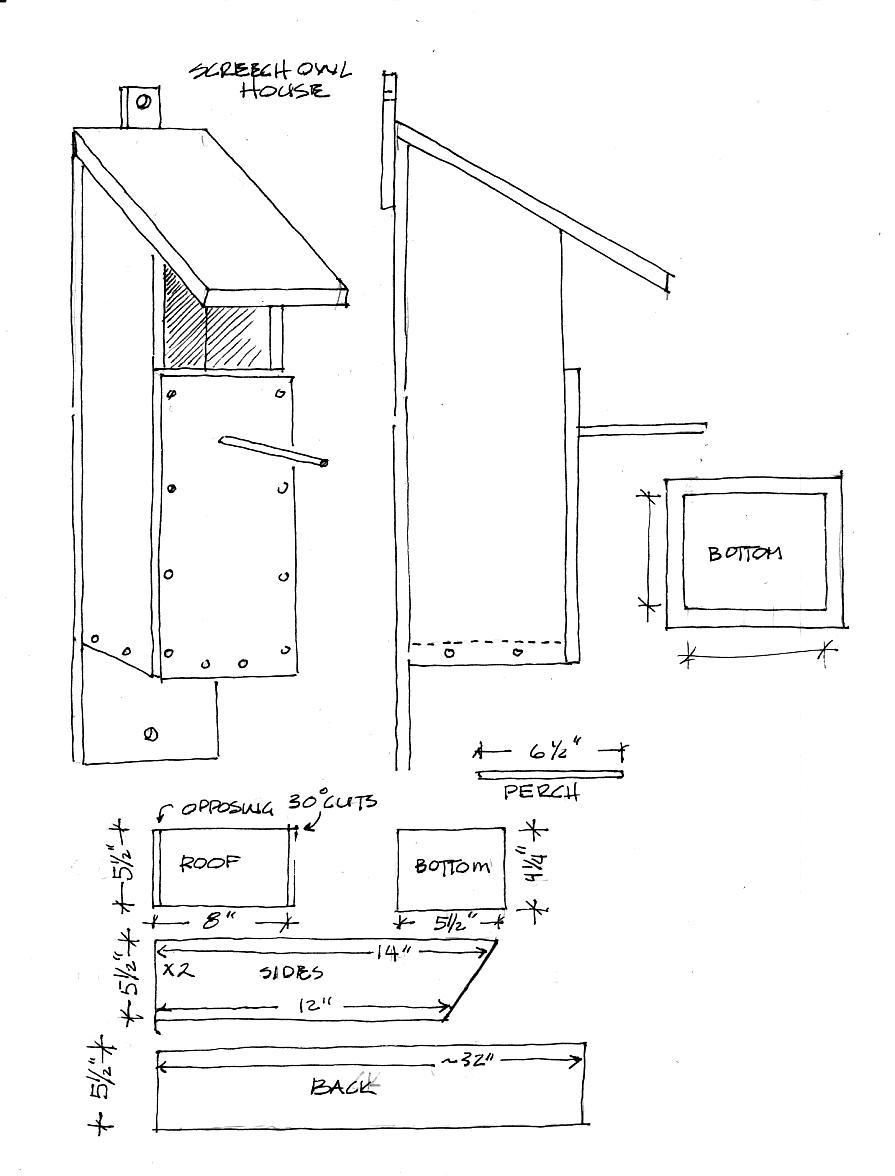 plans to build bird house plans owl pdf plans