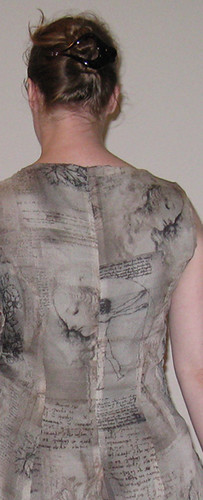 Leonardo Fabric - back of dress