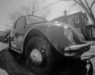 On the road - Lomo Fisheye