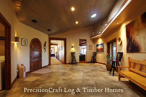 A Grand Entrance | PrecisionCraft Timber Frame Homes