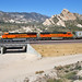 A new BNSF ES44c4 heads west through Cajon Pass