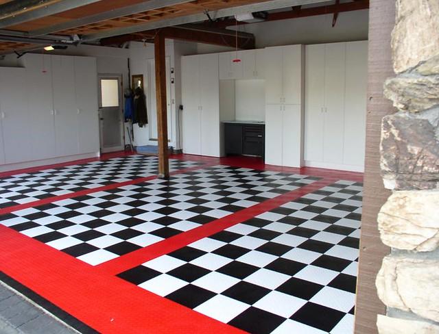 Garage Floor Tile Race Deck Checkered  Flickr  Photo. Tarp Garage. Johnson Hardware Bypass Door. Overhead Garage. Retractable Glass Doors