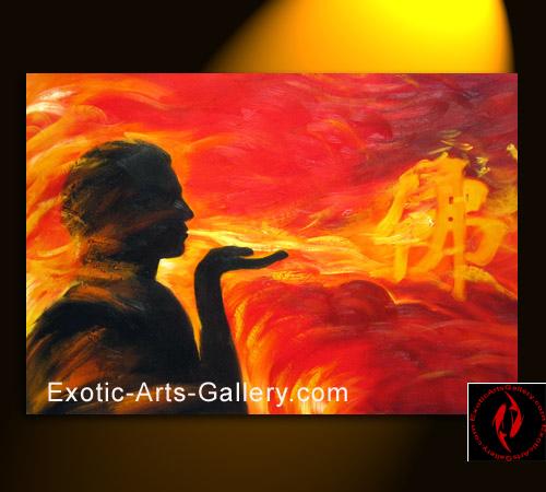 Feng Shui Buddha Art Buddha Feng Shui Oil Painting