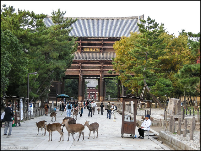 Todaiji Temple Entry Gate (Dainanmon, Or Great South Gate)