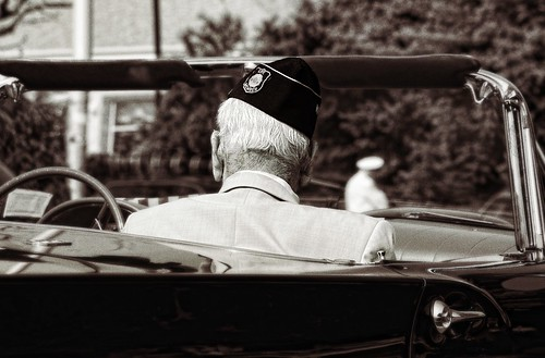 Veteran in a car, Memorial Day Parade 2009