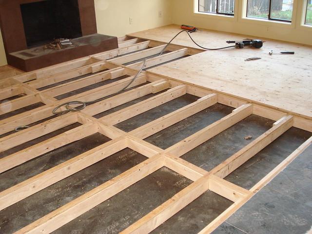 Convert Concrete Subfloor To Living Room