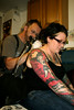 emma havin a tattoo at jink tattoo jink tattoo studio