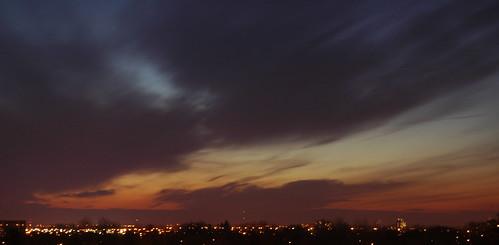 sunset cloud ontario canada nikon cityscape view apartment streetlights vibrant d70s kitchener nikond70s waterloo gordspence