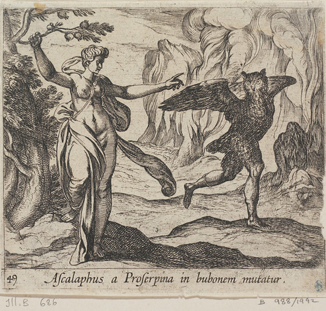 proserpina turning ascalaphus into an owl