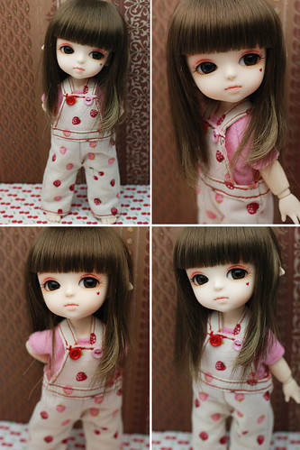 Latidoll yellow overall pants - Sweet red berries