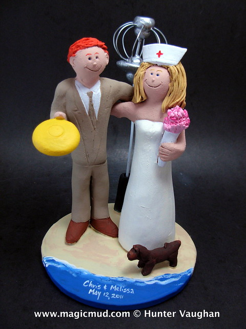 Nurse Wedding Cake Topper