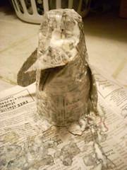 Wet Papier-Mâché Penguin