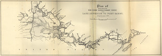 Plan of Route Followed by Red River Expeditionary Force From Lake Superior to Fort Garry During the Summer of 1870 (1871)