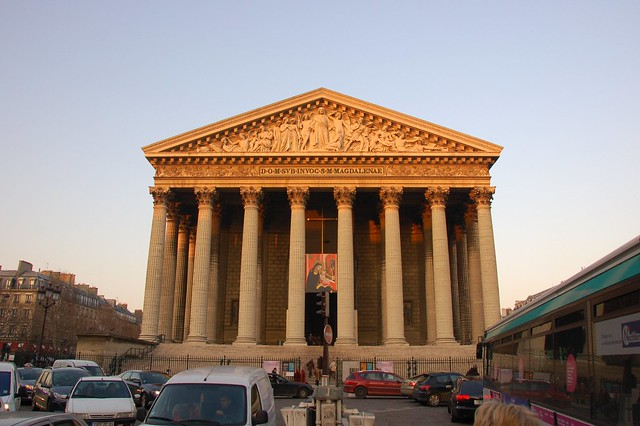 l 39 eglise madeleine paris place de la madeleine at dusk is flickr photo sharing. Black Bedroom Furniture Sets. Home Design Ideas