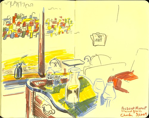 life city urban moleskine ink restaurant cafe raw florida drawing sketchbook marker fl draw staugustine presentmoment