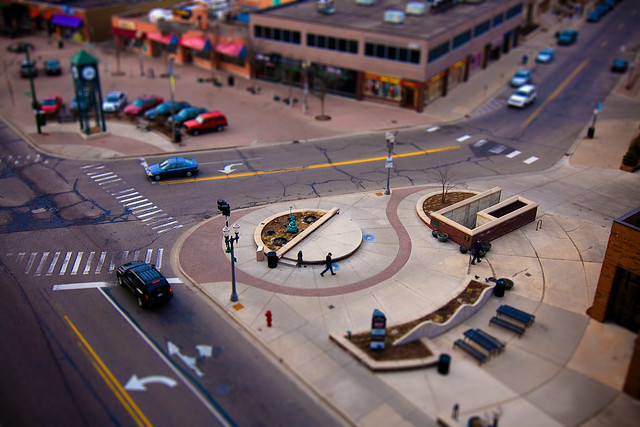 Tilt-shift Downtown East Lansing michigan