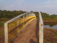 The bridge over the canal.