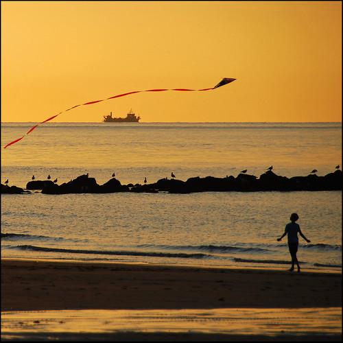 sunset kite beach strand zonsondergang belgium noordzee belgië explore knokke vlieger
