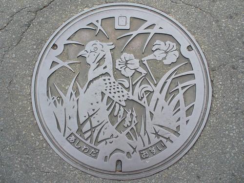 Ashiwada villedge Yamanashi pref manhole cover(山梨県足和田村のマンホール)