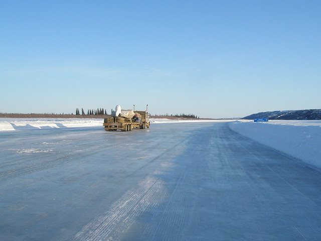Ice road trucker on the ice road - part 1