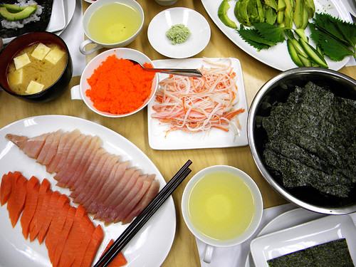 'roll your own' sushi party