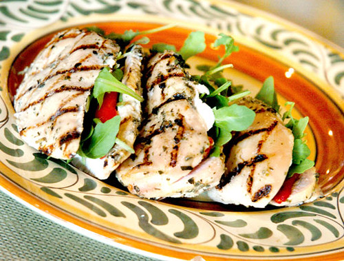 Souper Jenny's Grilled Chicken Breast Stuffed With Roasted Red Peppers ...