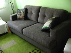 floor, furniture, loveseat, room, sofa bed, living room, couch, studio couch, flooring,