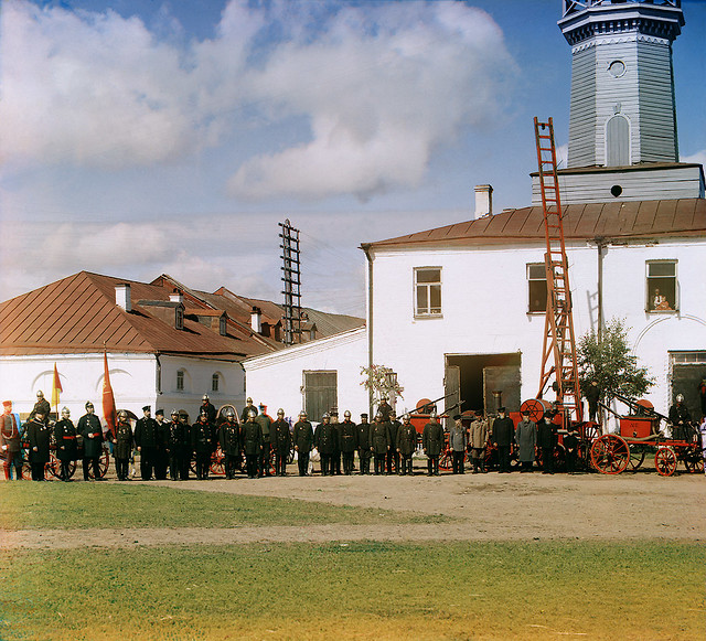 Fire Brigade in Vytegra, 1909