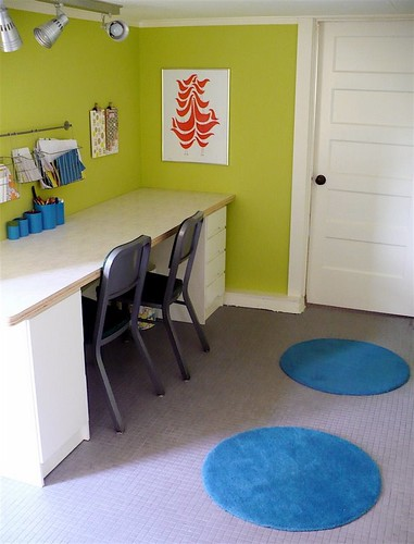 [Real homes] Bright, fun playroom: Benjamin Moore's Pear Green