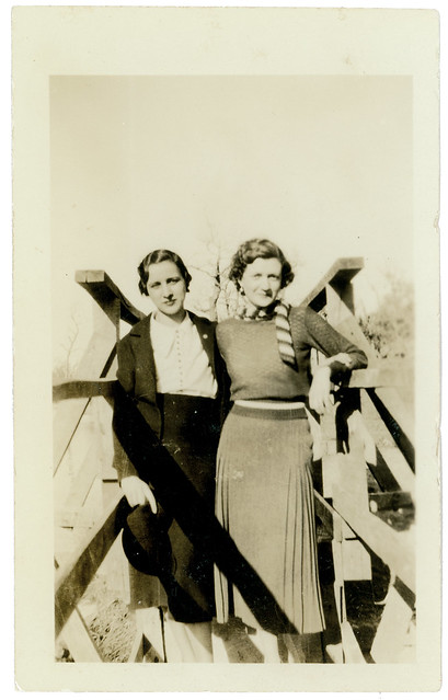two women on bridge
