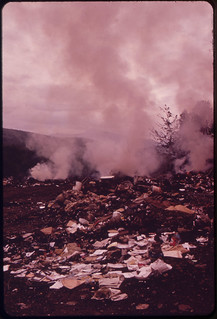 Burning Trash at the Dump at Gorham, on the Androscoggin River 06/1973