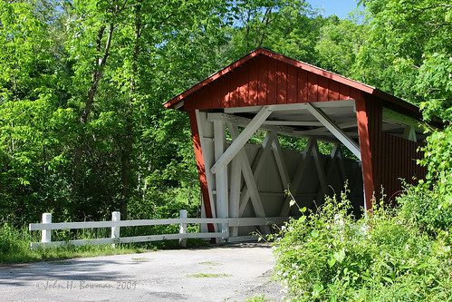 ohio may explore 2009 summitcounty coveredbridges riversandstreams canon24105l ohiocoveredbridges ruralohio everettbridge furnacerun may2009 smithtruss