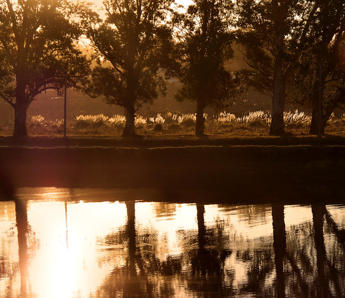 Golden Afternoon on the River [Río Quequén, Necochea, Argentina] by katiemetz, on Flickr