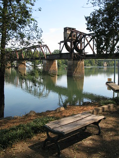 bridge and bench