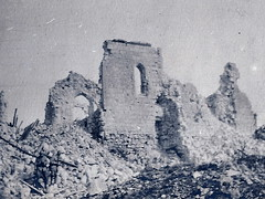 2éme bataille de la Marne - Saint Gengoulph église - (photo VestPocket Kodak Marius Vasse 1891-1987)