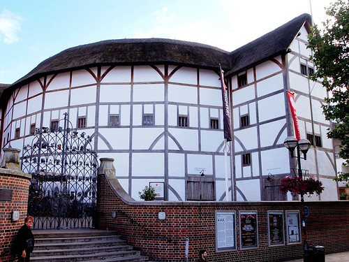 Outside the Globe Theater by SararasMuseum on Flickr.  Used through creative commons.