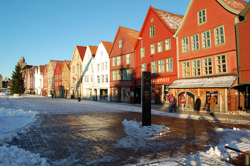 Bryggen during winter