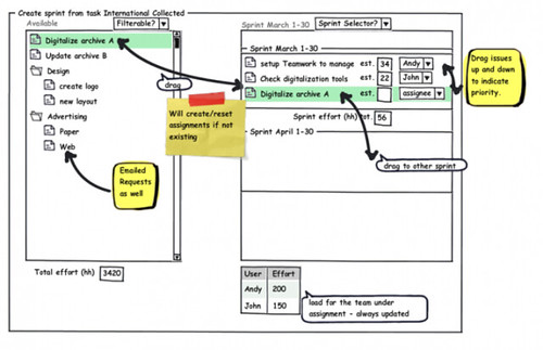 Screenshot of - Balsamiq Mockup for Teamwork Work Management.