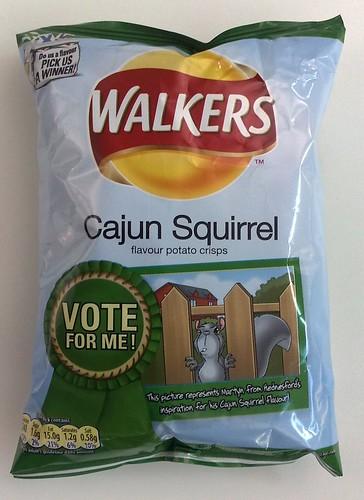 "walkers ""cajun squirrel"" crisps"