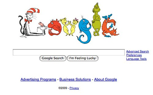 Lublog dr seuss now on google - Google home page design ...