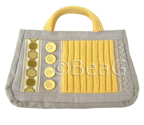 Handbag 'Yellow Stitches' (Handtas)