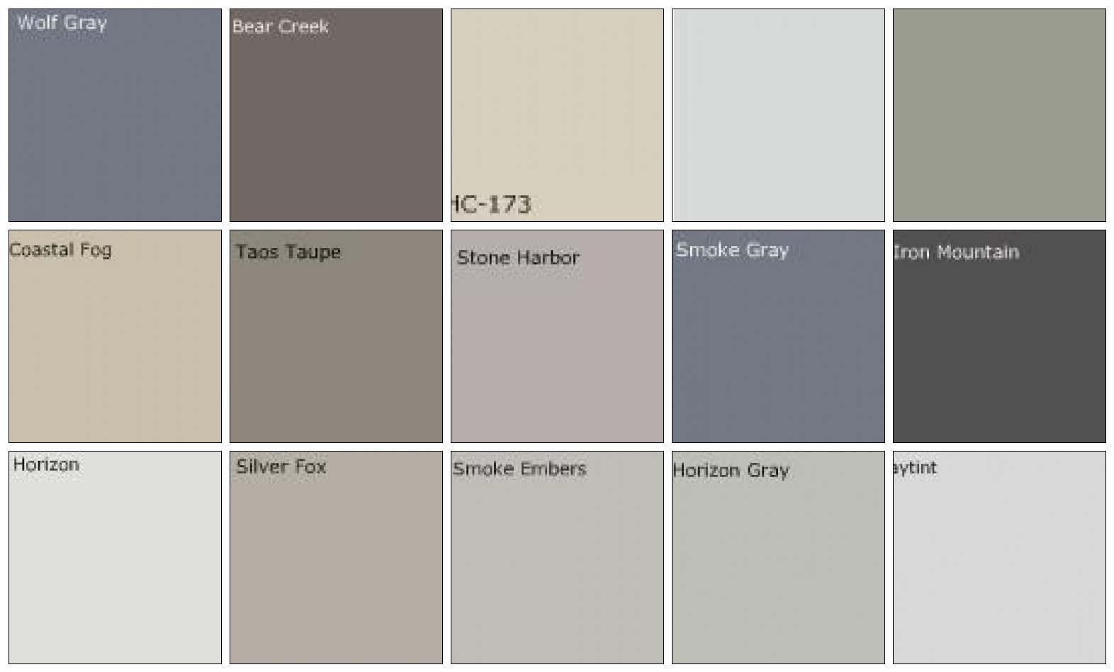Fluidr gray paint designers 39 favorite colors by sarahkaron Shades of grey interior paint