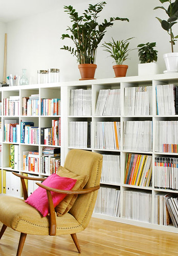 Interiors, Office: White Shelving