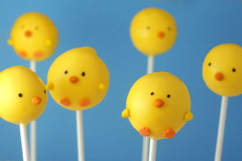 Chick Cake Pops Images : Spring Chickens   bakerella.com