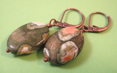Rainforest Jasper and Copper Earrings