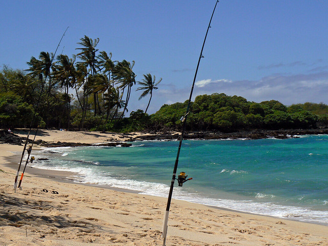 shore fishing hawaiian style flickr photo sharing
