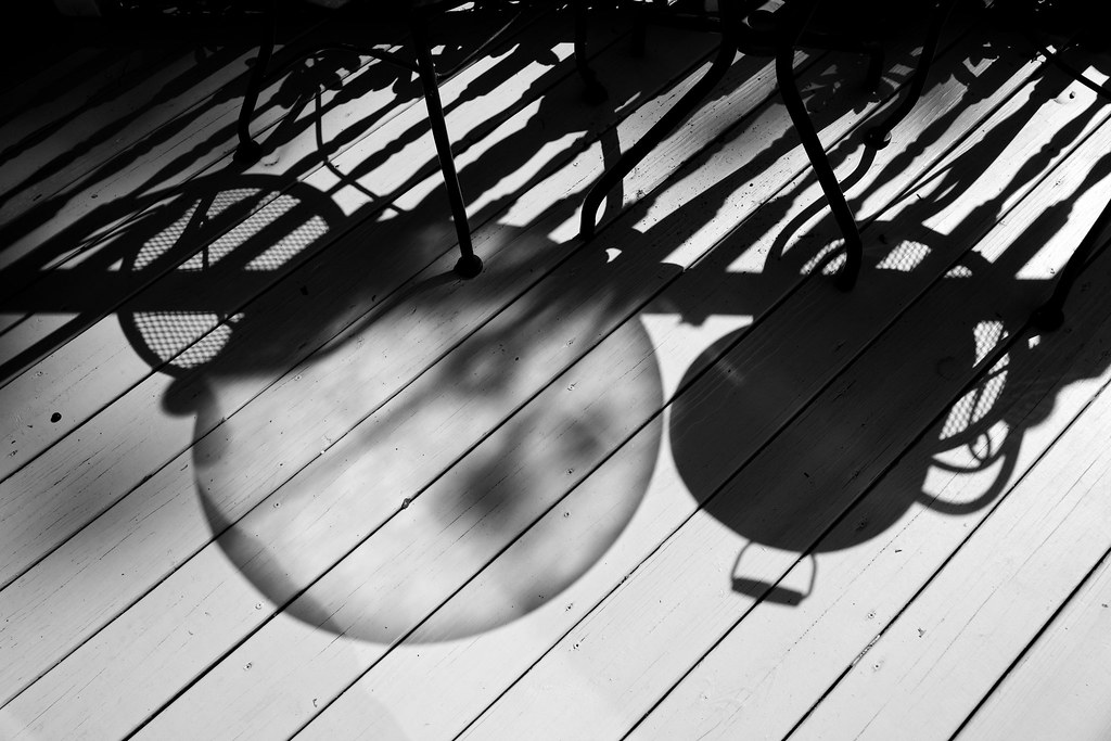 Early Morning Shadows on the Deck