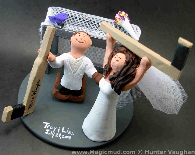 custom hockey wedding cake toppers hockey wedding cake topper flickr photo 13202