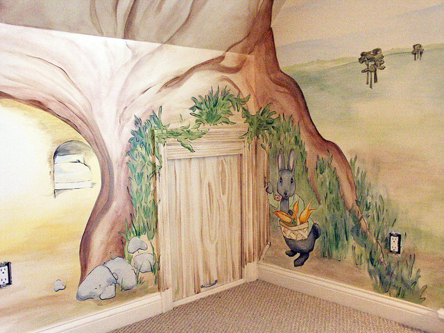 Beatrix potter mural cubbyhole4 flickr photo sharing for Beatrix potter wall mural